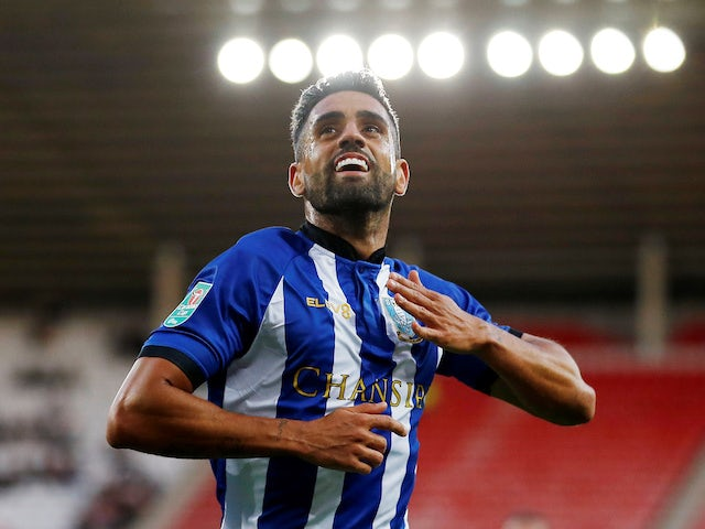 Sheffield Wednesday's Marco Matias celebrates scoring during his side's EFL Cup clash with Sunderland on August 26, 2018