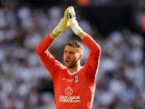 Marcus Bettinelli in action for Fulham in the Championship playoff final on May 26, 2018