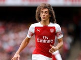 Arsenal midfielder Matteo Guendouzi in action during his side's Premier League clash with Manchester City on August 12, 2018
