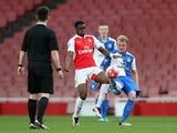 Arsenal youngster Stephy Mavididi in action