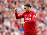 Liverpool defender Virgil van Dijk in action during his side's Premier League clash with West Ham United on August 12, 2018
