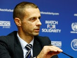 UEFA president Aleksander Ceferin pictured on February 13, 2018
