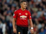 Alexis Sanchez in action for Manchester United on August 10, 2018