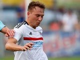 Cauley Woodrow in action for Fulham in July 2017