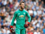David de Gea in action for Manchester United on August 19, 2018