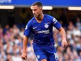 Eden Hazard in action for Chelsea on August 20, 2018