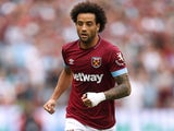 Felipe Anderson in action for West Ham United on August 18, 2018