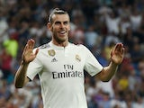Gareth Bale celebrates scoring for Real Madrid on August 19, 2018