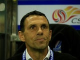 Gus Poyet in charge of Shanghai Shenhua in March 2017