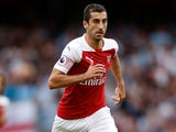 Henrikh Mkhitaryan in action for Arsenal on August 12, 2018