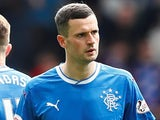 Jamie Murphy in action for Rangers on April 29, 2018