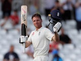 England batsman Jos Buttler celebrates his maiden Test ton against India on August 21, 2018