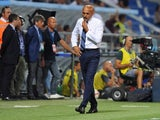 Inter Milan manager Luciano Spalletti watches on during his side's Serie A defeat to Sassuolo
