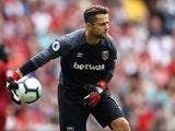 Lukasz Fabianski in action for West Ham United on August 12, 2018