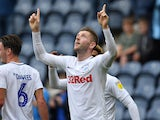 Paul Gallagher celebrates scoring for Preston North End on August 18, 2018