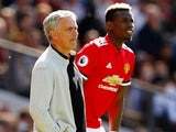 Paul Pogba and Jose Mourinho pictured together on May 13, 2018