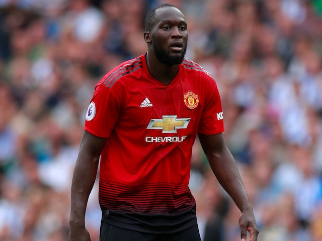 Romelu Lukaku in action for Manchester United on August 19, 2018