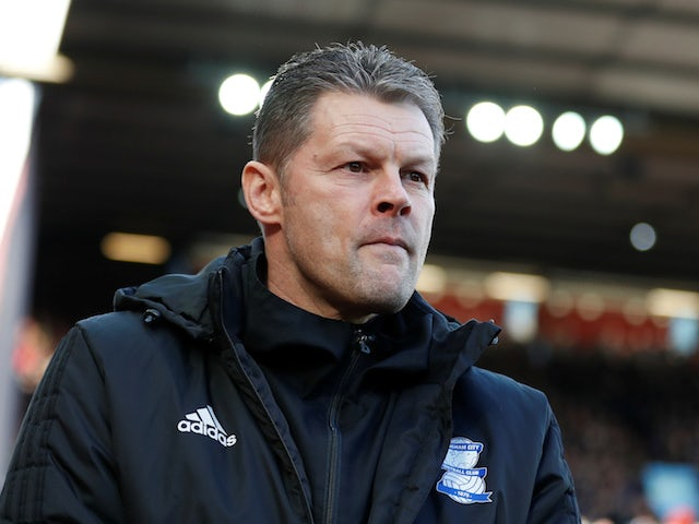 Steve Cotterill in charge of Birmingham City on February 11, 2018