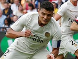 Thiago Silva in action for PSG on August 18, 2018