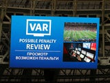 VAR technology in action during the World Cup final on July 15, 2018