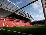 General view inside Liverpool's Anfield from April 2018