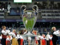 A generic image of the Champions League trophy on August 15, 2018
