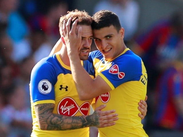 Southampton striker Danny Ings celebrates scoring during his side's Premier League clash with Crystal Palace on September 1, 2018