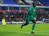 Watford forward Isaac Success celebrates scoring against Reading in the EFL Cup second round on August 29, 2018