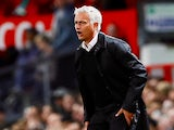 Manchester United manager watches on during his side's Premier League clash with Tottenham Hotspur on August 27, 2018