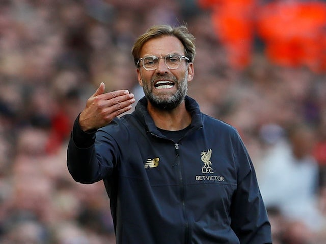 Jurgen Klopp in charge of Liverpool on August 25, 2018