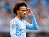 Leroy Sane in action during Manchester City's meeting with Huddersfield Town on August 19, 2018