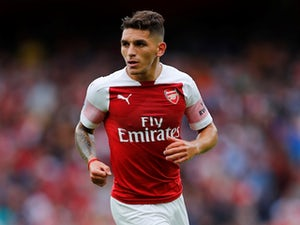 Arsenal midfielder Lucas Torreira in action during his side's Premier League clash with Manchester City on August 12, 2018