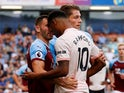 Manchester United striker Marcus Rashford goes head to head with Phil Bardsley of Burnley during their Premier League clash on September 2, 2018