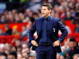 Tottenham Hotspur manager Mauricio Pochettino watches on during his side's Premier League clash with Manchester United on August 27, 2018