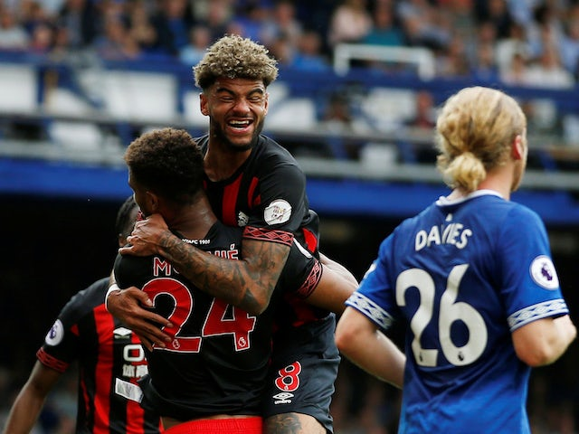 Philip Billing celebrates scoring for Huddersfield Town against Everton on September 1, 2018