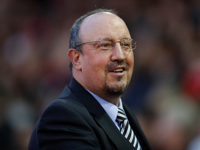 Newcastle United manager Rafael Benitez watches on during his side's EFL Cup clash with Nottingham Forest on August 29, 2018