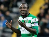 Seydou Doumbia in action for Sporting Lisbon in the Europa League on February 15, 2018