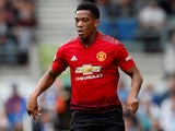 Anthony Martial in action for Manchester United on August 19, 2018
