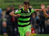Christian Doidge in action for Forest Green Rovers in the EFL Cup in August 2017