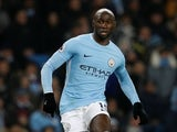 Eliaquim Mangala in action for Man City in December 2017