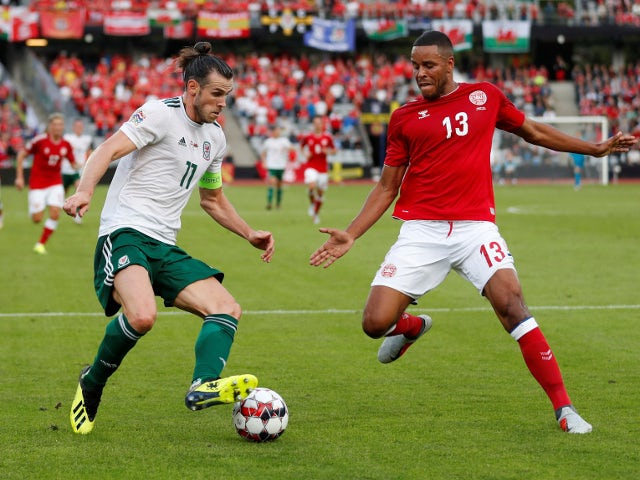 Wales's Gareth Bale in action with Denmark's Mathias Jorgensen in the UEFA Nations League match on September 9, 2018
