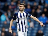 Gareth McAuley in action for West Bromwich Albion on February 17, 2018