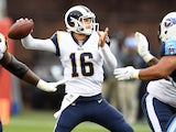 Jared Goff for the Los Angeles Rams