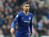 Chelsea midfielder Jorginho in action during his side's Premier League clash with Newcastle on August 28, 2018