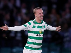 Leigh Griffiths celebrates scoring for Celtic in the Europa League on August 30, 2018