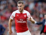 Aaron Ramsey in action for Arsenal on August 25, 2018