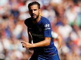 Cesc Fabregas in action for Chelsea on August 7, 2018