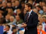 England manager Gareth Southgate watches on during his side's international friendly with Switzerland on September 11, 2018