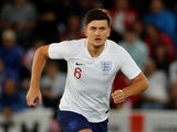 England defender Harry Maguire in action during his side's international friendly against Switzerland on September 11, 2018