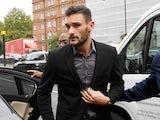 Hugo Lloris arrives at Westminster Magistrates' Court on September 12, 2018